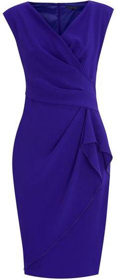 Emmy Crepe Dress - Lyst