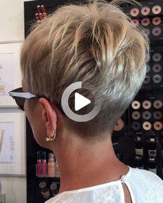 Erika Professional H Short Hair Back, Funky Short Hair, Short Choppy Hair, Super Short Hair, Short Grey Hair, Short Hair With Layers, Short Hair Cuts For Women, Long Hair, Pixie Haircut Thin Hair