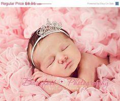 Baby Headband, Baby Tiara, Clear Rhinestone Tiara Headband, Baby Girl Princess Headband, Photo Prop, Newborn Toddler Child Girls Headband on Etsy, $7.61