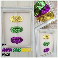 Easy DIY mardi gras mask decor idea