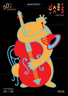 Check out this design by Justlei for the 2015 Monterey Jazz Festival design…