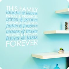 This Family (Two Color Version) (wall decal from WallWritten.com).