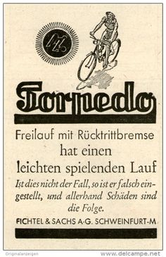 Original-Werbung/Inserat/ Anzeige 1943: TORPEDO-FAHRRÄDER ca. 80 X 100 mm