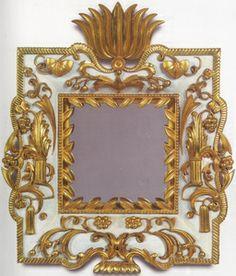 Dagobert Peche b. 1887, St. Michael im Lungau  d. 1923, Mödling bei Wien Mirror, Vienna 1922 Linden-wood, carved, painted white and gilt overall: 53 cm x 43 cm Neue Galerie New York.