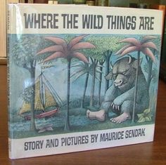 Where the Wild Things Are by Maurice Sendak First Ed in First Issue Dust Jacket First edition in the first issue dust jacket which does not mention the caldecott award. No restoration done to the book or jacket - an unsophisticated copy. Published in 1963.  $3,750.00 / 1 bid