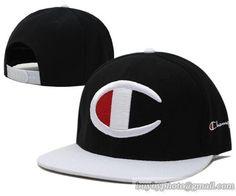 Champion Snapback Hats Black White a27443527d3