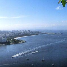 A panoramic view of Flamengo neighborhood and its beach The Neighbourhood, River, Beach, Places, Outdoor, Rio De Janeiro, Outdoors, The Beach, Beaches