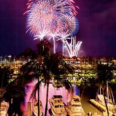 Celebrate the 4th in Honolulu, where 10,000 people are expected to watch the fireworks along the shores of Ala Moana and Waikiki and from the Ala Moana Center.