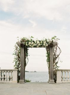 Gorgeous ceremony backdrop: http://www.stylemepretty.com/2015/03/03/modern-nautical-newport-wedding/   Photography: Judy Pak - http://judypak.com/