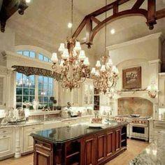 gorgeous warm and bright kitchen!