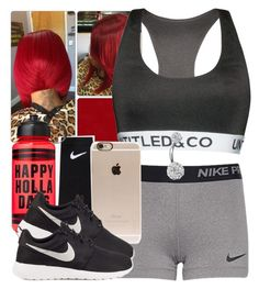 """""""The Trill Dollz Xmas Performance Rehearsal-Me"""" by trillest-queen ❤ liked on Polyvore featuring NIKE, Incase, Victoria's Secret PINK and Bling Jewelry"""