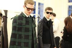 Backstage at Valentino menswear show Fall/Winter 2013-2014 in Paris.
