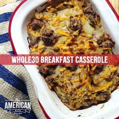 #Breakfast Casserole. And it's just like a delicious, moist meatloaf! #Paleo #Whole30