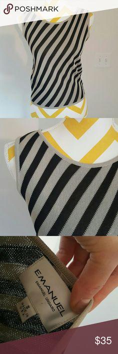Emanuel Ungaro sleeveless top Made in US Small Emanuel Ungaro sleeveless top   Made in USA   in great condition Emanuel Ungaro Tops Camisoles