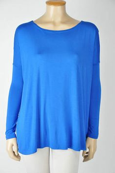 NEW Piko bamboo top shirt long sleeve BLUE gorgeous HOT SELLER THIS FALL! $30 free shipping