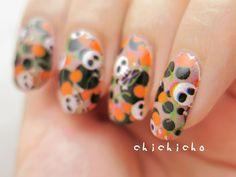 Cherry and Skull Nail Wrap   chichicho~ nail art addicts