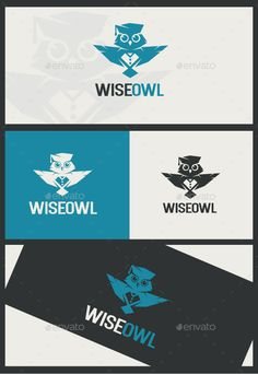 Buy Wise Owl by KheVeronika on GraphicRiver. Logo in the form of a scientific owl. Suitable any schools, child development centers, educational sites for children.