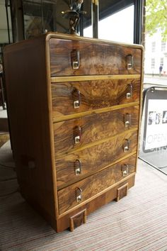 is your home for the most beautiful antiques on earth: antique furniture, fine jewelry, fashion and art from the world's best dealers. Art Nouveau Furniture, Antique Furniture, Machine Age, Chest Of Drawers, Diesel, Cabinets, Lamps, Interiors, Bedroom