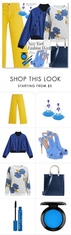 """""""What to Wear to NYFW"""" by duma-duma ❤ liked on Polyvore featuring Gianmarco Lorenzi, Rimmel, John Lewis and NYFW"""