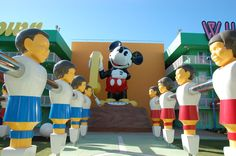 Giant Mickey Mouse phone at Disney's Pop Century Resort / Walt Disney World Resort - Florida.
