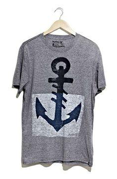 Hurley 'Black Anchor' T-Shirt (Nordstrom Exclusive) Cool Tees, Cool Shirts, Tee Shirts, Hurley, Anchor Shirts, Nautical Fashion, Printed Shirts, Shirt Designs, Cute Outfits