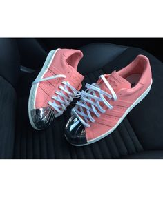 huge selection of 70a37 9041b Adidas Originals Superstar 80s Toe Pink Shoes