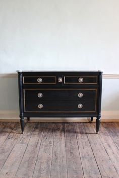 1920s French Ebonised Commode in the Louis XVI taste