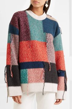 Multicolored wool Slips on wool Dry clean Made in Italy Old Sweater, Sweater Coats, Wool Cardigan, Wool Sweaters, Cashmere Sweaters, Alter Pullover, Sewing Alterations, Recycled Sweaters, Coat Patterns