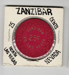 RARE-VINTAGE-ZANZIBAR-25-Casino-Chip-North-Las-Vegas-NV-RED-R6-Rate
