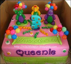 Image detail for -ICIP-ICIP DI DAPUR: Barney Birthday Cake for Queenie