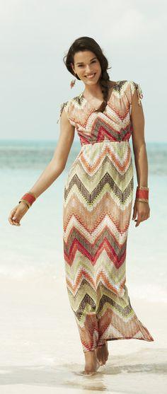 9420a23e898fbf The Chevron Dress: Fab tie details on a new textured print.  #DestinationFabulous #