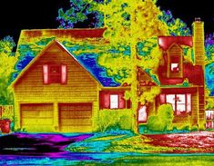 Infrared photography of your house will help you find air leaks and patch them up!