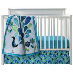 Baby girl - peacock bedding