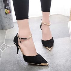 Item Type: Pumps Lining Material: PU Style: Fashion Heel Type: Thin Heels Upper Material: Kid Suede Platform Height: 0-3cm Insole Material: Rubber With Platforms: Yes is_handmade: Yes Closure Type: Bu