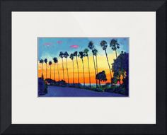 """Sunset+at+La+Jolla+Cove+San+Diego""+by+RD+Riccoboni,+San+Diego+//+Palm+trees+and+Sunset+at+La+Jolla+Cove+San+Diego,+in+this+serene+scene.+Painting+by+RD+Riccoboni,+one+of+America's+favorite+artists.+//+Imagekind.com+--+Buy+stunning+fine+art+prints,+framed+prints+and+canvas+prints+directly+from+independent+working+artists+and+photographers."