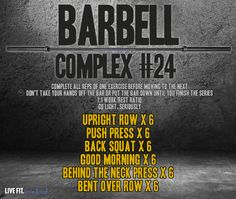 Torch Fat and Increase Strength with a time saving barbell complex!