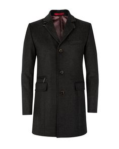 Wool mix coat - Charcoal | Jackets & Coats | Ted Baker UK