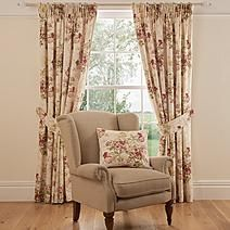 Dorma Brympton Soft Floral Red Cotton Lined Pencil Pleat Curtains Pleated Curtains, Pencil Pleat, Soft Furnishings, Blinds, Floral Design, Bedroom, Red, Furniture, Home Decor