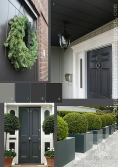 The Paper Mulberry: Exterior Paint Shades - Deep Grey Gray Door..  Searching for the perfect grey gray ....