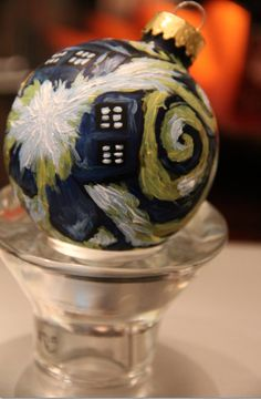 Doctor Who: Van Gogh TARDIS Hand-painted Christmas Ornament