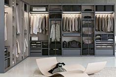 49 Creative Closet Designs Ideas For Your Home. Unique closet design ideas will definitely help you utilize your closet space appropriately. An ideal closet design is probably the only avenue towards . Grey Bedroom Design, Bedroom Closet Design, Bedroom Wardrobe, Wardrobe Closet, Design Room, Gray Bedroom, Walk In Closet Design, Wardrobe Design, Closet Designs