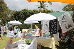 The Love Handmade markets in the Wedding Gardens, Scarborough Queensland, Australia.