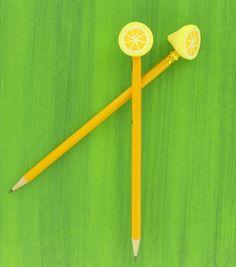 Sculpey® Lemon Cane Pencil Toppers
