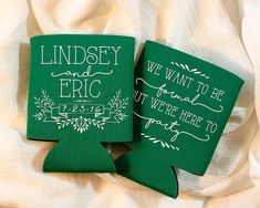 Wedding Favors Personalized Favors We Want to be Formal But We're Here to Party Wedding Can Coolers Rehearsal Dinner Favors 1423 by SipHipHooray