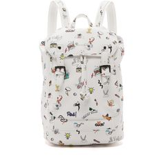 Paul & Joe Sister Fenzy Backpack ($245) ❤ liked on Polyvore featuring bags, backpacks, white, day pack backpack, white drawstring bag, knapsack bags, white backpack and backpacks bags