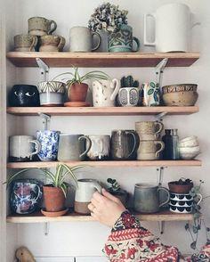 Ceramic mugs. Love t