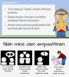 64-sivuinen EMPATIAN SUPERSANKARIN jättipaketti sisältää paljon erilaisia empatiaharjoituksia erilaisten tilanteiden kautta.. Occupational Therapy, Speech Therapy, Social Skills For Kids, Les Sentiments, Psychology, Mindfulness, Classroom, Ads, Teaching