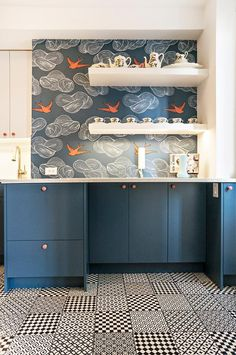 Drooling over this Daydream (Blue) kitchen! [Design by AHA Interiors]