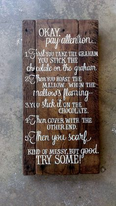 SANDLOT s'mores quote...CUSTOM quote hand-painted wooden wall-mountable SIGN