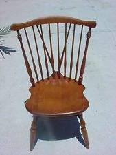 Ethan Allen Heirloom FIDDLE BACK DUXBURY SIDE CHAIR Early American MAPLE WOOD
